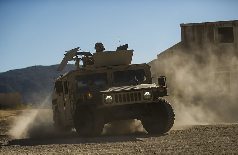 Banner Image with a military vehicle to represent the defence segment of Reliable Autotech