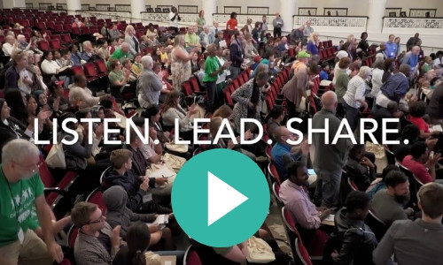 Listen. Lead. Share. Workshop from Faith in Place's 2018 Green Team Summit held at the Field Museum.