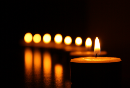 Candles are sacred in many faith traditions.