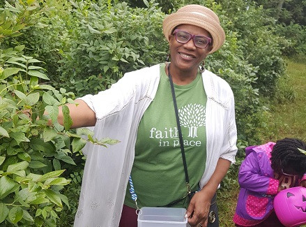 Veronica picked five pounds of blueberries with her granddaughter at the Rehoboth Blueberry farm in Summer 2018