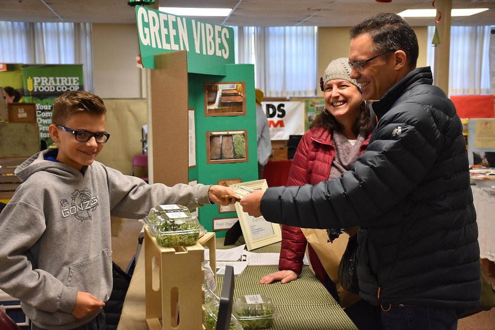 Green Vibes Farming LLC is a microgreen startup from 14 year-old Edward Neiman. Green Vibes was one of 12 new vendors to join Faith in Place this season.