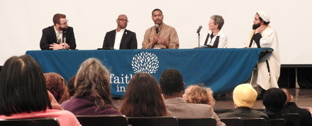 The interfaith clergy panel responds to the keynote address.