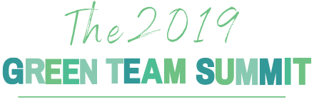 """Header image that says, """"The 2019 Green Team Summit"""""""