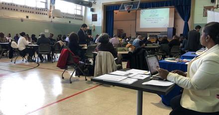 Tabling at youth programming with Safe Haven at Metropolitan Apostolic Community Church
