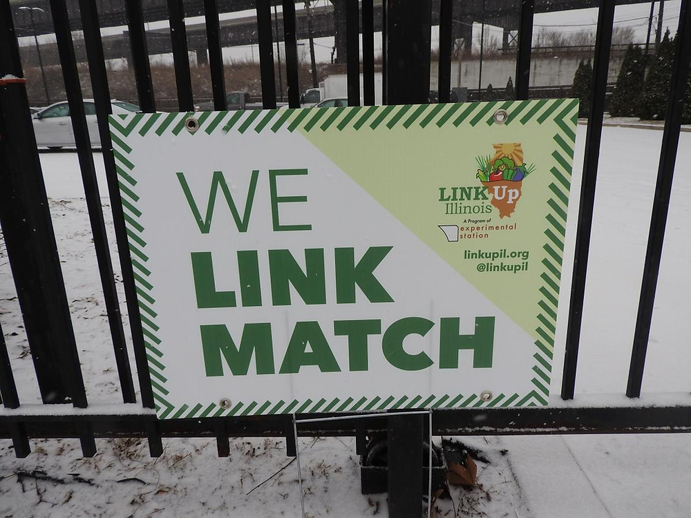 Our Link Match Sign outside of Haven of Rest MBC