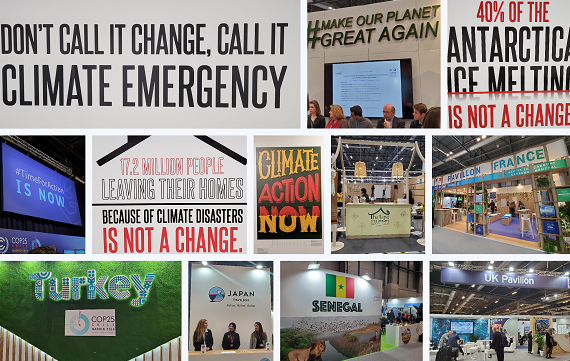 Dan saw many signs calling on participants to act with urgency throughout COP25 and around Madrid.