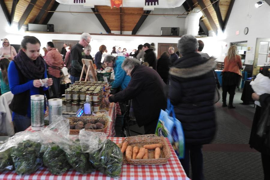 St. Mark's hosted a bustling indoor Winter Farmers Market during the 2017-2018 season.