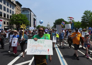 People's Climate Marchers on Pennsylvania Ave.