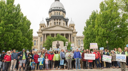 600+ people rallied outside the IL State Capitol!