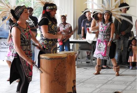 Xochitl-Quetzal Danza Azteca performs at Monarch Fest 2019.