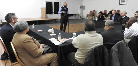 Pastor Wright shares his experience with fellow faith leaders.