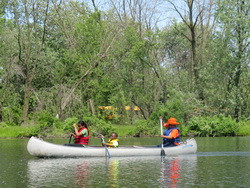 Canoeing at Beaubien Woods!