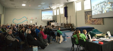 "2019 One Earth Film Festival Screening of ""Call of the Forest: The Wisdom of the Trees"" at St. Joesph's Catholic Church in Libertyville."