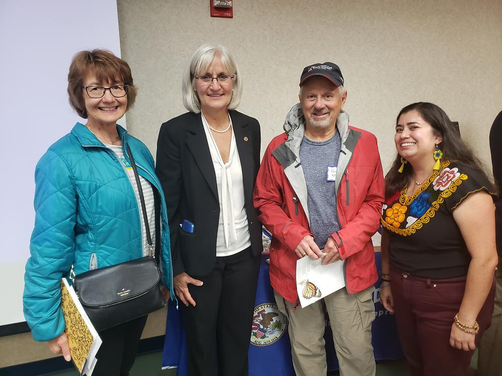 St. Joseph Catholic Parish Green Team Members meeting their State Rep., Mary Edly-Allen, at a November Listen. Lead. Share. event in Mundelein.