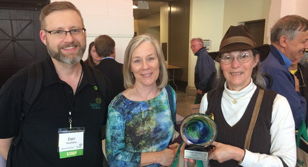 Green Team Members from Countryside Church Unitarian Universalist in Palatine won an award for outstanding Earth Care efforts