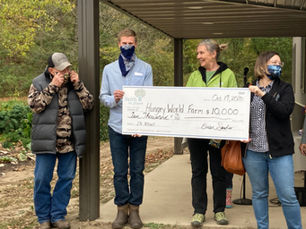 Hungry World Farm Receives $10,000 Grant