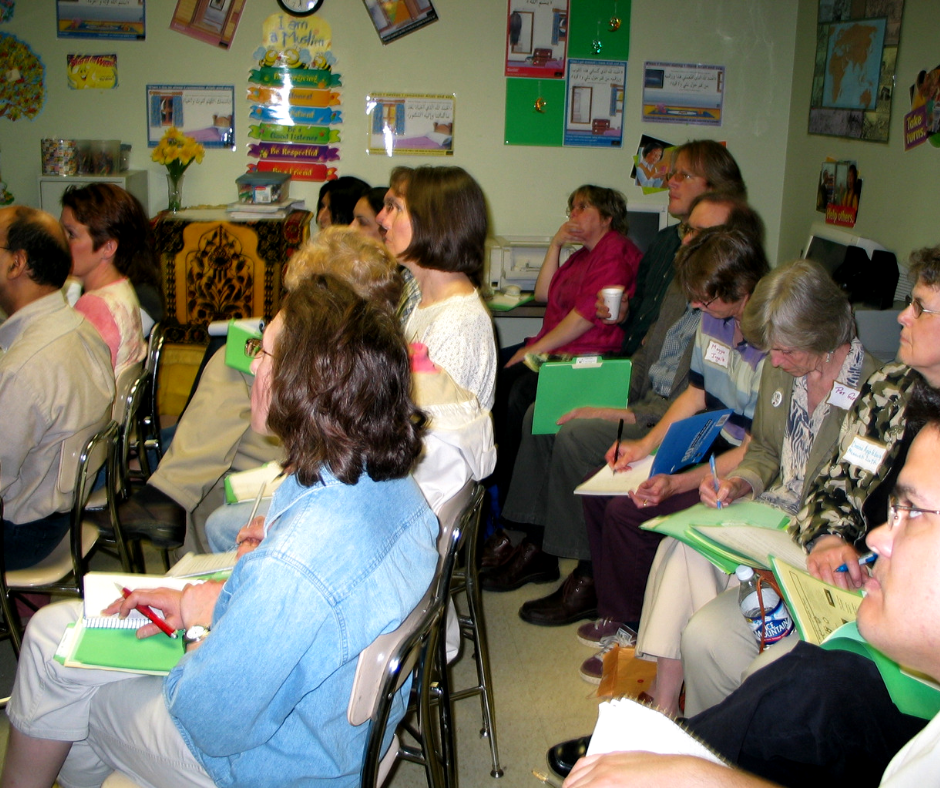Attendees at one of the early Sustainability Circles