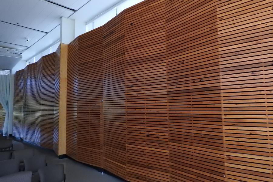 Repurposed wood from barns in Ontario