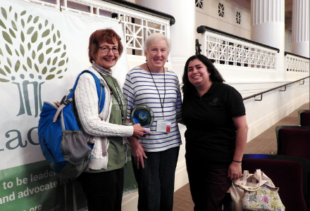 Faith in Place celebrated the Creation Care Team's accomplishments with a 2018 Green Team Award.