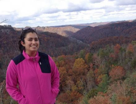 Celeste is pictured in the Appalachian Mountains.