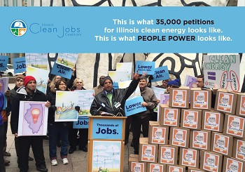 Clean Power Plan Petition Drop in Chicago