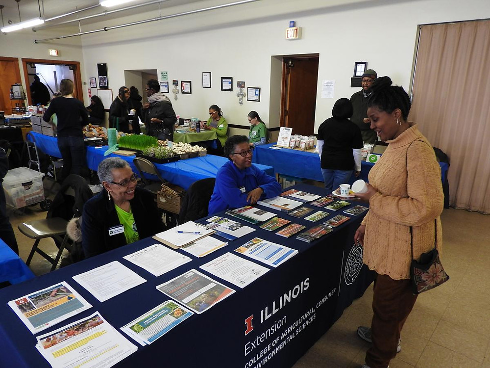 University of IL Extension tabled at Advocate United Church of Christ's first Winter Farmers Market. It was a great atmosphere!