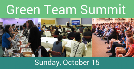 The Second Annual Green Team Summit will be at the Field Museum on Oct 15, 2017!