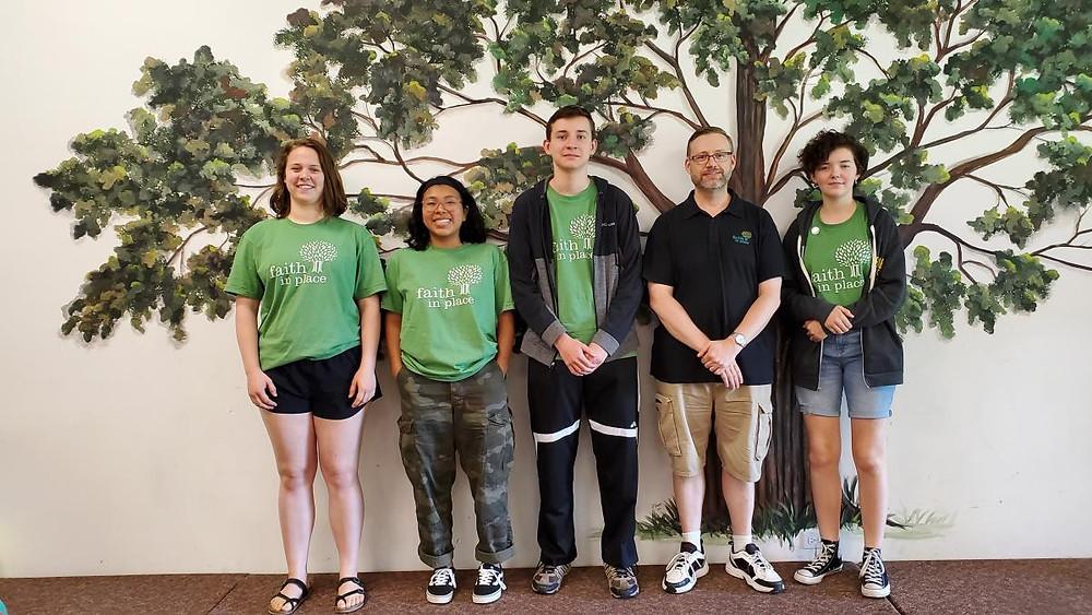 2019 NWS Eco-Ambassadors pictured L to R: Katie, Mia, Jake, Dan, Nina