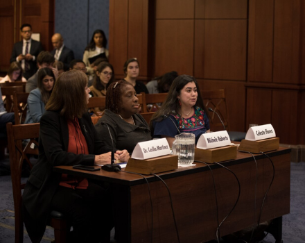 Celeste Flores testifies at Congressional EJ hearing.