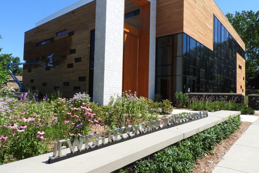 Garden & front entrance to JRC