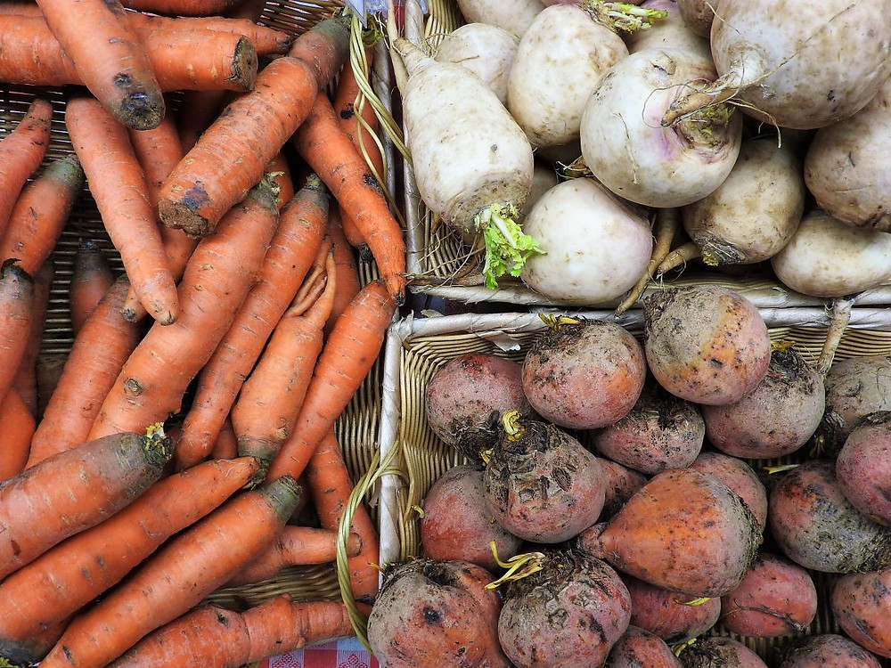 Our long-time partner The Urban Canopy provided fresh produce, like these carrots, beets, and turnips, at 15 of our 17 markets this season.