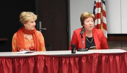 Rev. Cindy Shepherd and Ginnie Judd tell their stories.