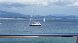 Atlas Shrugged at anchor Galicia