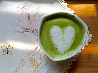 Lemon-Scented Green Tea Latte