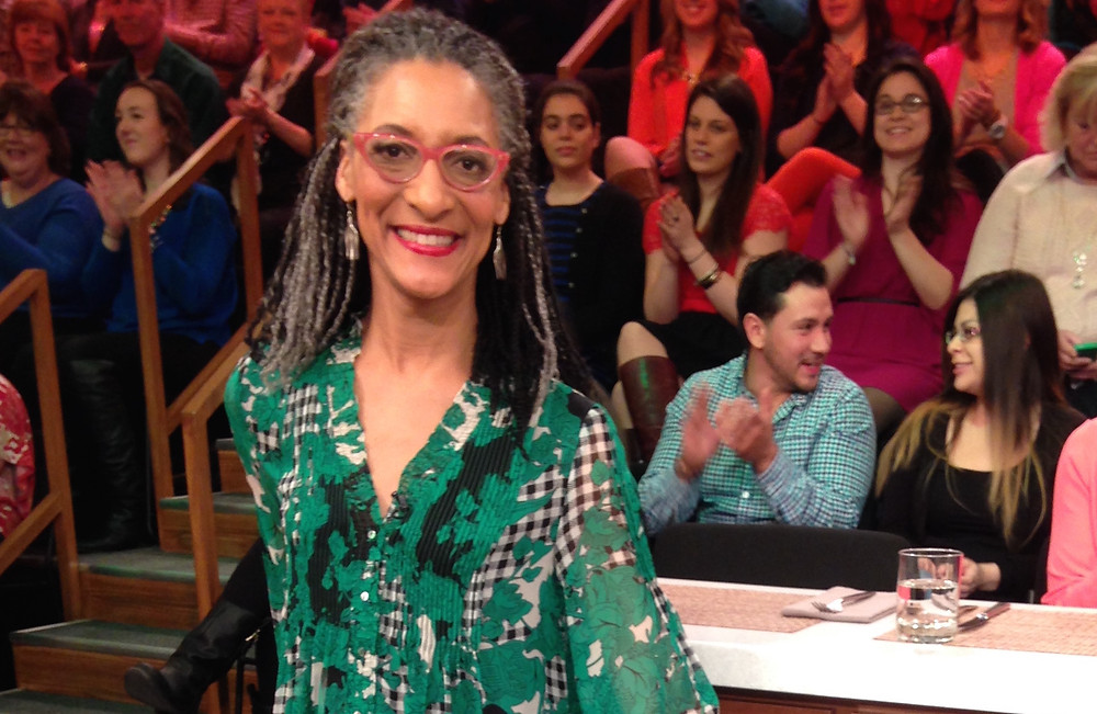 Carla Hall on set of The Chew