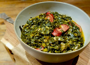 Collards with Turkey Kielbasa