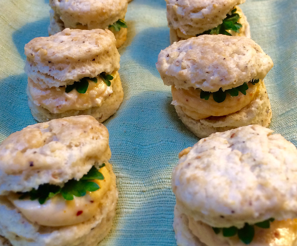black pepper biscuits with pimento cheese