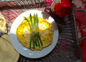 Asparagus Omelette with Mock Hollandaise
