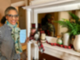 Celebrity Chef Carla Hall decorates for the Christmas Holiday