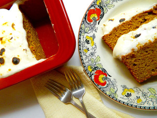 Sweet Potato Bread with Toasted Marshmallow Topping