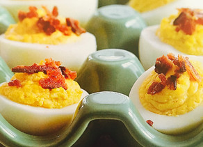 Down-Home Deviled Eggs with Smoky Bacon