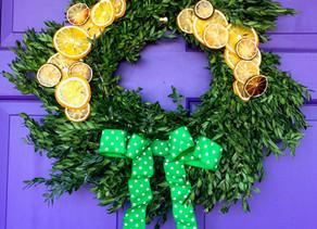 Festive Citrus Wreath
