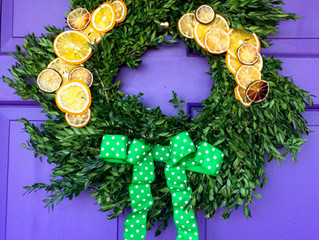 Festive Citrus Wreath