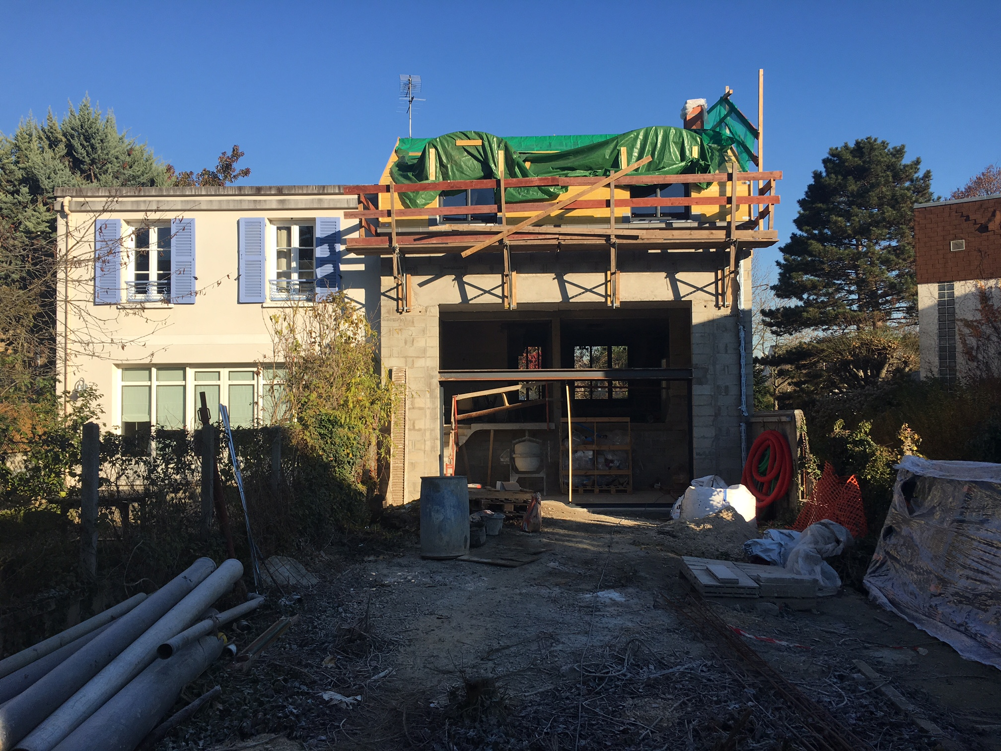 Travaux d'extension
