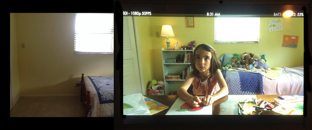 This is before and after for a Publix commercial. Kids rooms can be such a joy to decorate and dress!