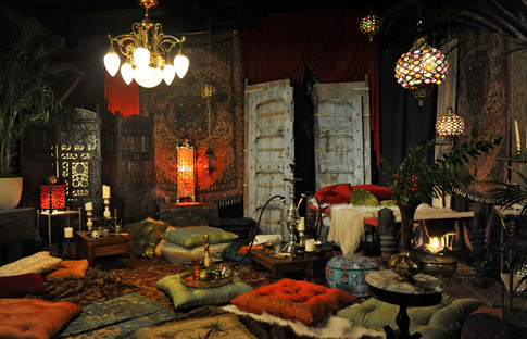 This is an opium den created for a still shoot. I love all the pillows, rugs and fabrics we got to use!