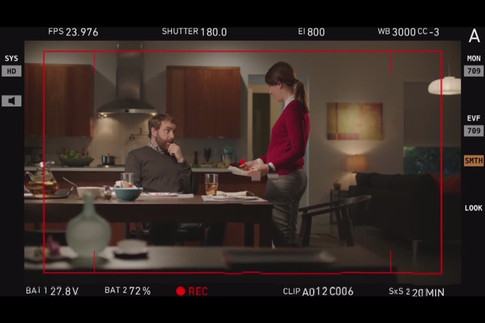 Here is a scene snapped from the monitor for a Publix commercial. It shows how the littlest of touches can really go a long way. Notice the hints of blue greens and the shape and texture of the foreground elements
