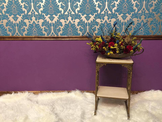 Got a little wild with this one! The softness of the carpet, the purple and blue combos...definitely speaking a little rock n roll to me.