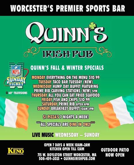 Quinns Fall Winter Daily Specials 100319