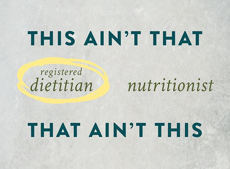 What's a Registered Dietitian anyway?